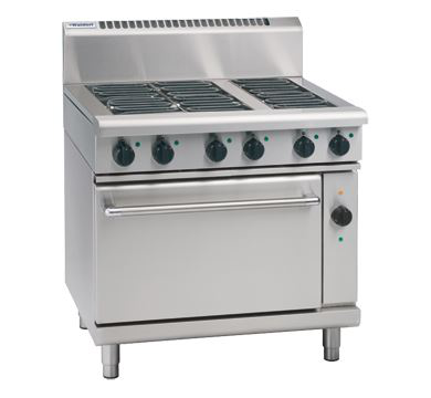 Waldorf 800 Series 900mm Electric Range Convection Oven 3 x 3.6kW griddle elements