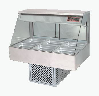 Woodson W.CFS23 Straight Glass Cold Food Display 3 Bay