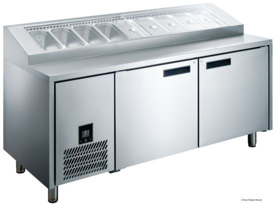 Advantage Platinum 1 Solid Door Pizza Prep Bar