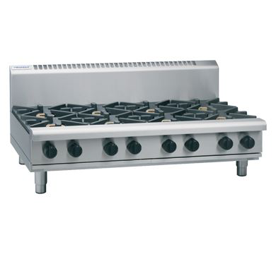 Waldorf 800 Series 1200mm Gas Cooktop Low Back Version  Bench Model with 2 Burners and 900mm Griddle Plate