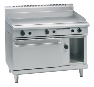 Waldorf 800 Series 1200mm Gas Griddle Electric Convection Oven Range Low Back Version