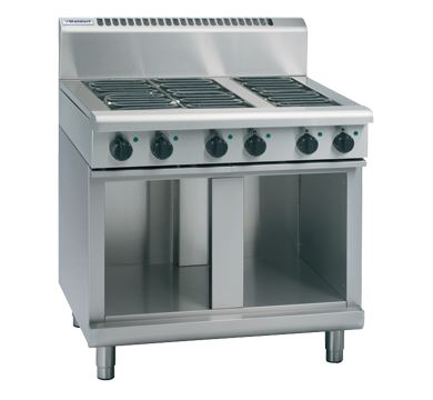 Waldorf 800 Series 900mm Electric Cooktop Low Back Version  Cabinet Base