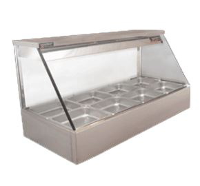 Woodson Straight Glass Hot Food Display 3 Bay Model