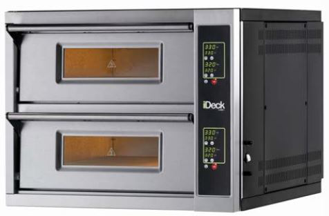 Moretti Electric Double Deck Pizza Oven  4 x 280mm Pizza Capacity, per deck Electronic Controls