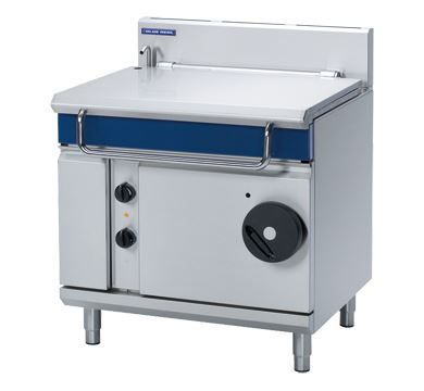 Blue Seal Evolution Series 900mm Gas manually Tilting Bratt Pan, 80 litres stainless steel pan.