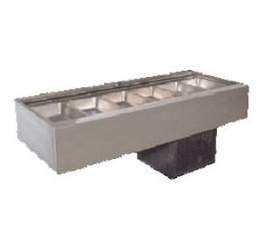 Woodson W.CFSSN26 Self Serve Cold Food Display 6 Bay Flat Deck Models