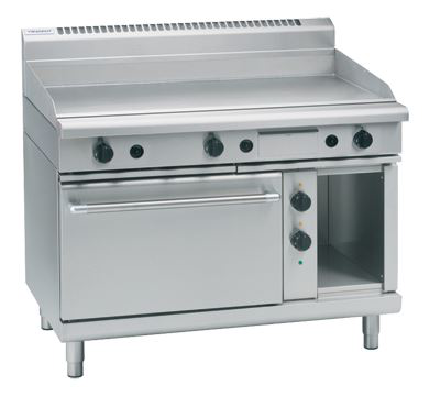 Waldorf 800 Series 1200mm Gas Griddle Electric Static Oven Range Low Back Version