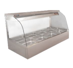 Woodson Curved Hot Food Display 3 Bay