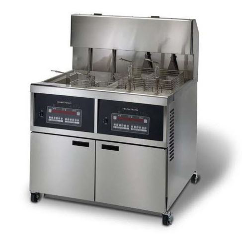 Henny Penny OEA342/8000 Full Electric Full Double Well Open Fryer With 8000 Computron Controls & Auto Lift