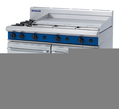Blue Seal Evolution Series 1200mm Gas Range Double Static Oven 2 burners cooktop