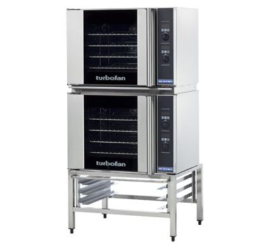 Turbofan Double Stacked Half Size Tray Digital Electric Convection Ovens