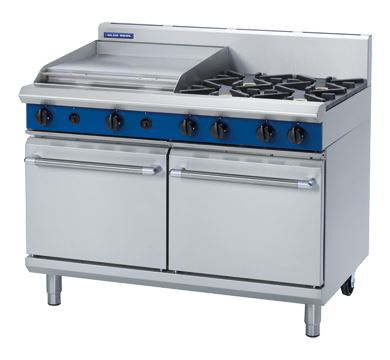 Blue Seal Evolution Series 1200mm Gas Range Double Static Oven