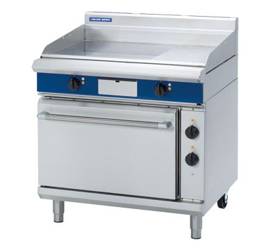 Blue Seal Evolution Series 900mm Electric Griddle Static Oven Range