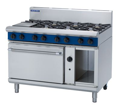Blue Seal Evolution Series , 8 open Burners , 1200mm Gas Range Static Oven