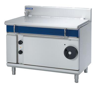 Blue Seal Evolution Series 1200mm Electric Tilting Bratt Pan Manually operated tilting mechanism