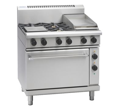 Waldorf 800 Series 900mm Gas Range Electric Static Oven Low Back Version