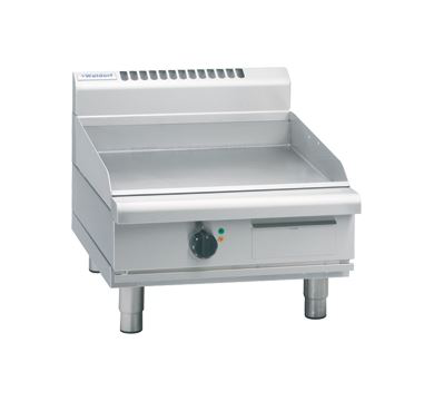 Waldorf 800 Series 600mm Electric Griddle Low Back Version  Bench Model