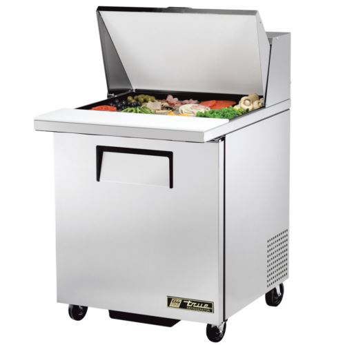 True TSSU-27-12M-C Sandwich / Salad Mega Top Prep Unit 1 x Solid Door Refrigerated Under
