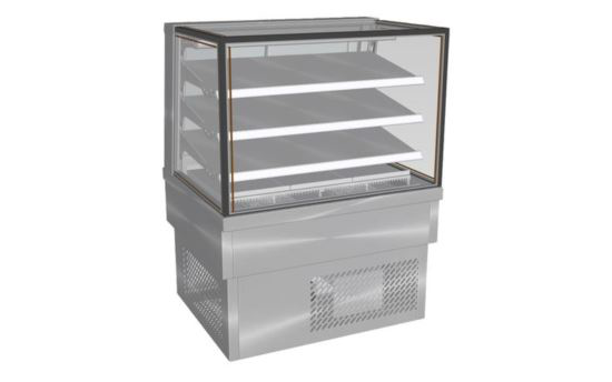 Culinaire CA.FDSQ.D.1200 1200mm wide Drop-In Square Glass Profile Ambient Food Display