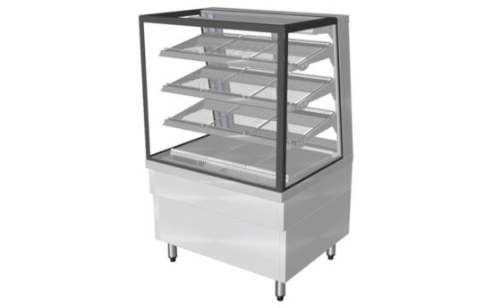 Culinaire CH.FDSQ.F.0900 900mm wide Freestanding Square Glass Profile Heated Food Display