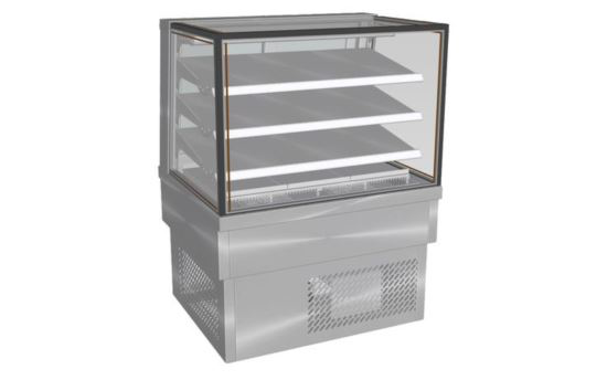Culinaire CR.FDSQ.D.0900 900mm wide Drop-In Square Glass Profile Refrigerated Food Display