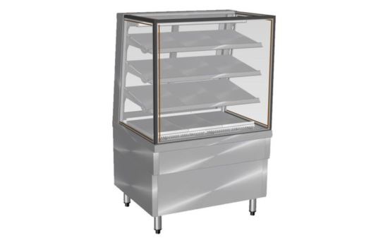 Culinaire CR.FDSQ.F.0900 900mm wide Freestanding Square Glass Profile Refrigerated Food Display