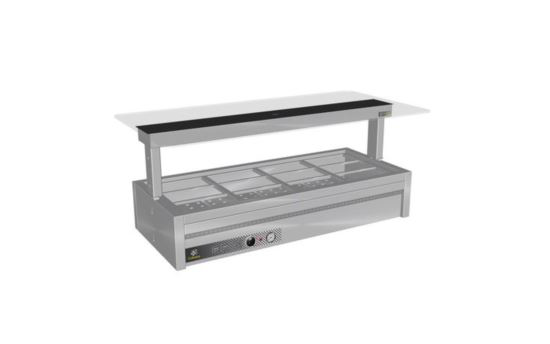 Culinaire CH.BMC.U.GSB.3 Three Module Under Bench Counter Line Bain Marie - Painted Centre Section - No Fixings