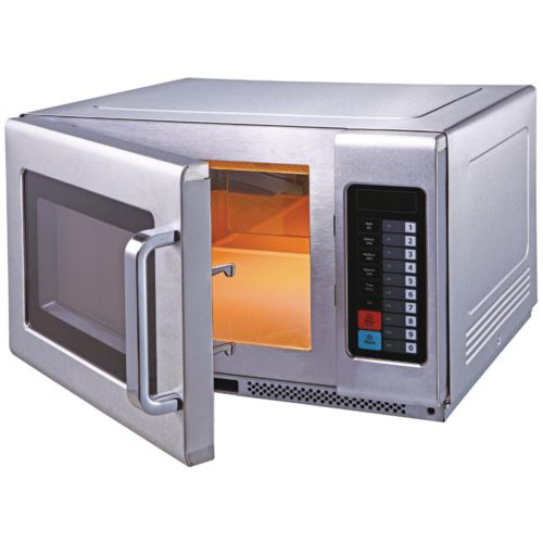 Birko 1201101 - 1100W Commercial Microwave with Internal Shelf 10 Amp
