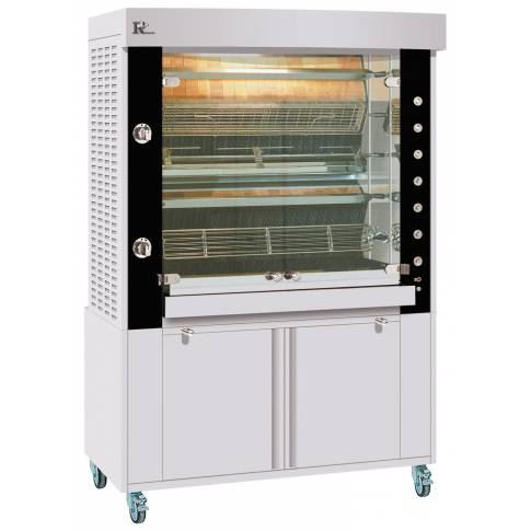 Rotisol 1375.5 MSG 5 Spit Rotisserie - Stainless Steel with Black Enamel (Excludes Base)