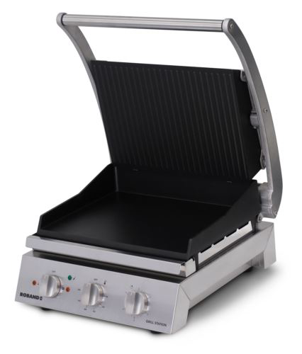Roband GSA610RT 6 Slice Ribbed Non-Stick Grill Station