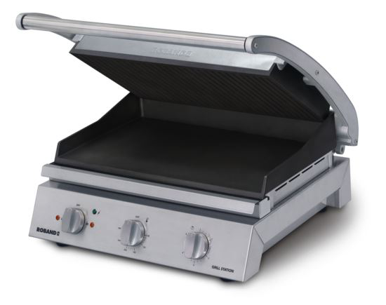 Roband GSA810RT 8 Slice Ribbed Non-Stick Grill Station