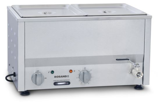 Roband BM2A Counter Top Bain Marie 2 x 1/2 Size 100mm Pans