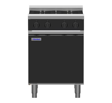 Waldorf Bold RNB8400G-CD 600mm Gas Cooktop - Cabinet Base BLACK