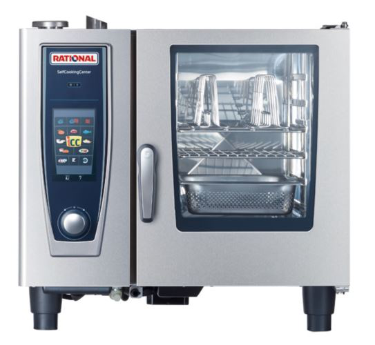 Rational SCC5S61G-NG SelfCookingCenter 5Senses 6 Tray Gas Combi Oven