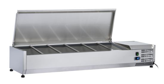 Saltas VRX1200S Refrigerated Countertop Ingredient Well S/S Lid