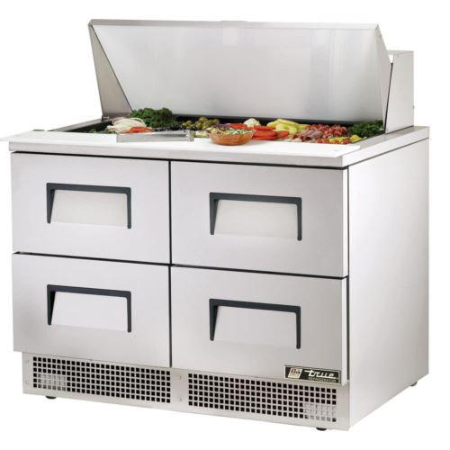 True TFP-48-18M-D-4-HC Food Prep Fridge with 4 x Refrigerated Drawers