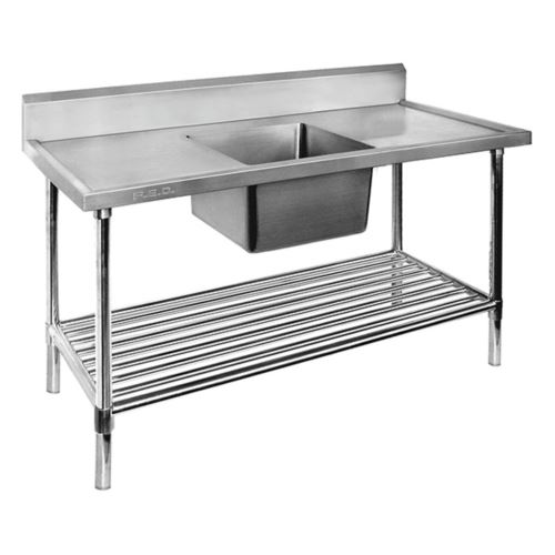 F.E.D SSB7-1200C/A Single Centre Sink Bench & Pot Undershelf