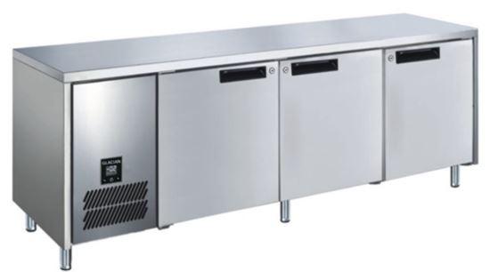Glacian BFS61885 3 Solid Door Slimline Underbar Freezer