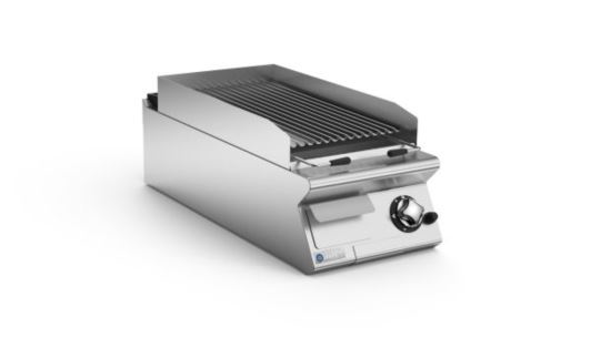 Mareno ANGPL94G-NG 90 Series 400mm Wide Gas Lava Grill Top Nat Gas