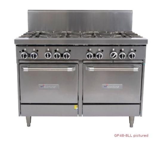 Garland GF48-6G12LL-NG Range 1200mm Wide 6 Burner 300mm Grill w 2 Ovens Nat Gas